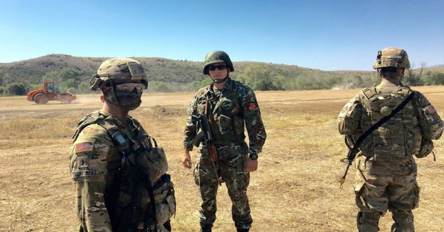 Ameriško-makedonska vojaška vaja Dragoon Guardian 2017