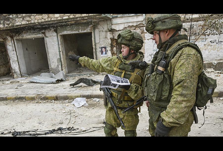 Ruski vojaki na misiji v Siriji
