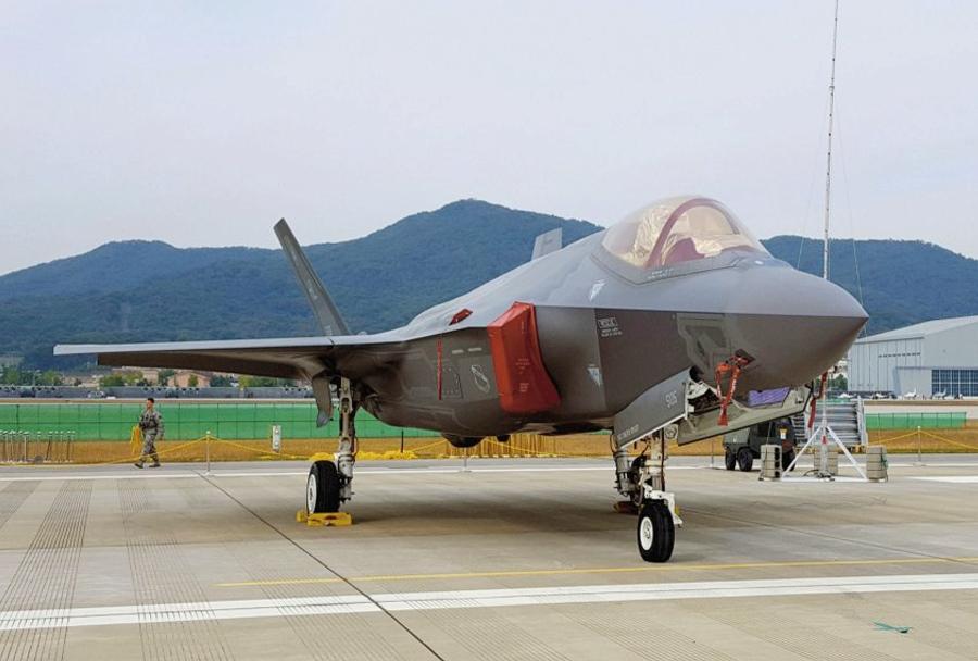 F-35 na razstavi ADEX 2017 v Južni Koreji