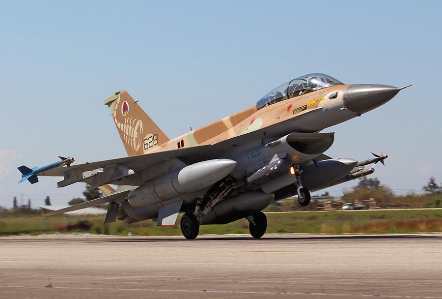 Izraelski lovec F-16D barak 2020