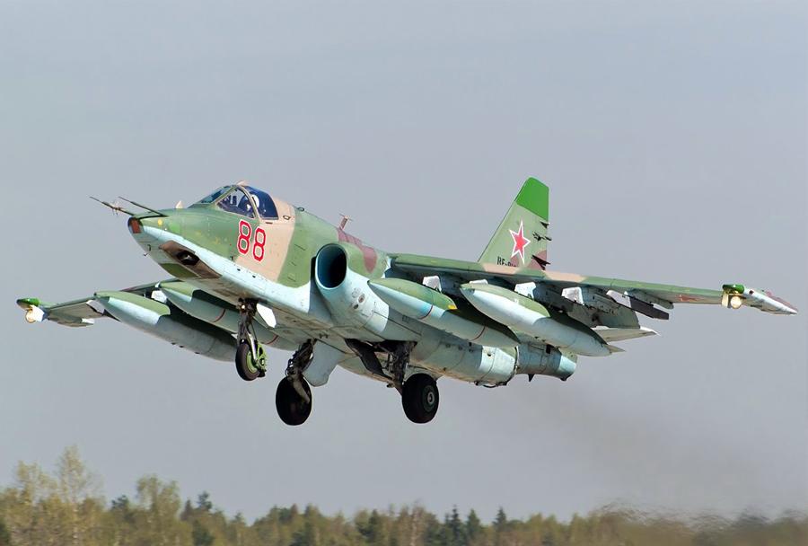 Rusko jurišno letalo Su-25 frogfoot