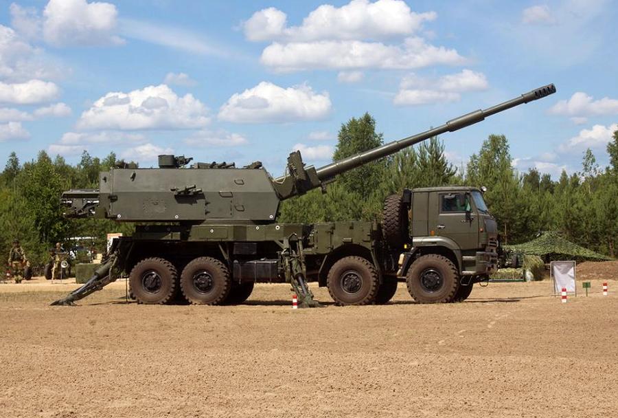 Kolesna samovozna havbica 2S35-1 8x8