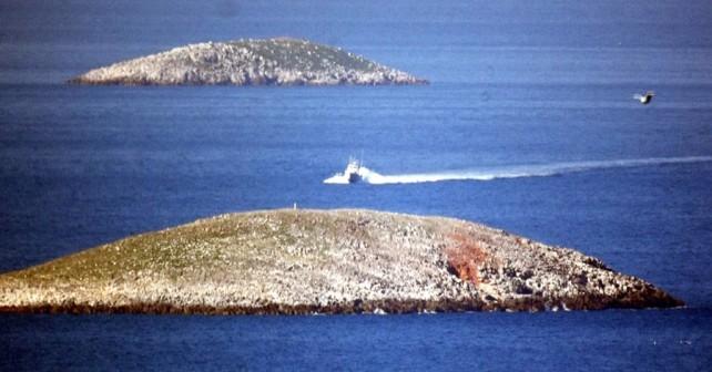 Sporna otoka Kardak (turško) oz. Imia (grško)
