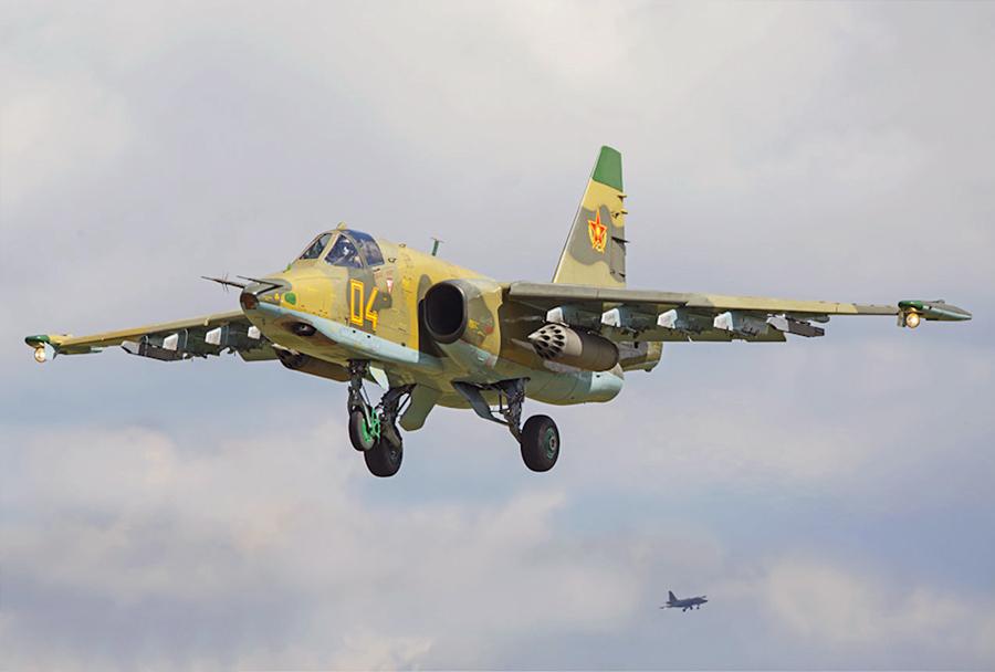 Kazahstansko jurišno letalo Su-25
