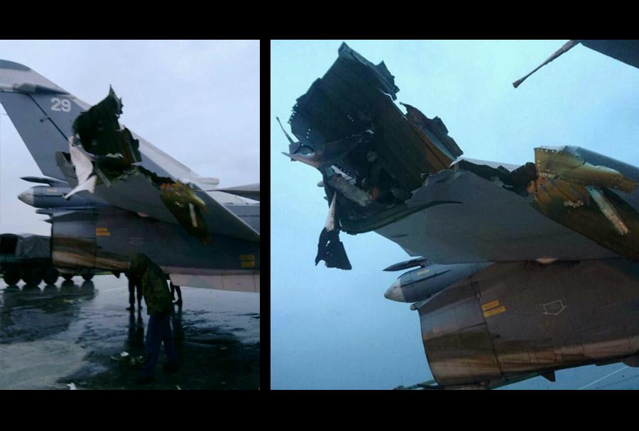 Domnevne poškodbe ruskega letala v Siriji