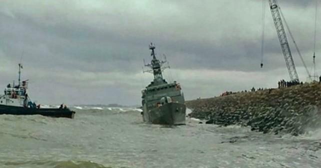 Iranska fregata Damavand - brodolom