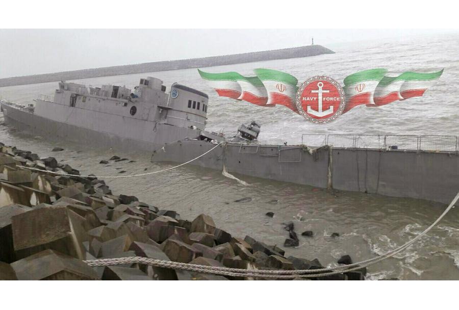 Iranska fregata Damavand po umiku opreme