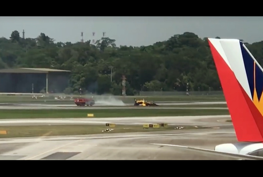 Nesreča letala KAI T-50 na salonu Singapur Airshow 2018