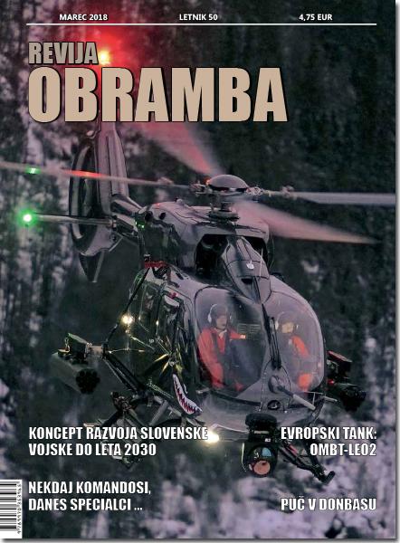 Revija OBRAMBA, marec 2018 - naslovka