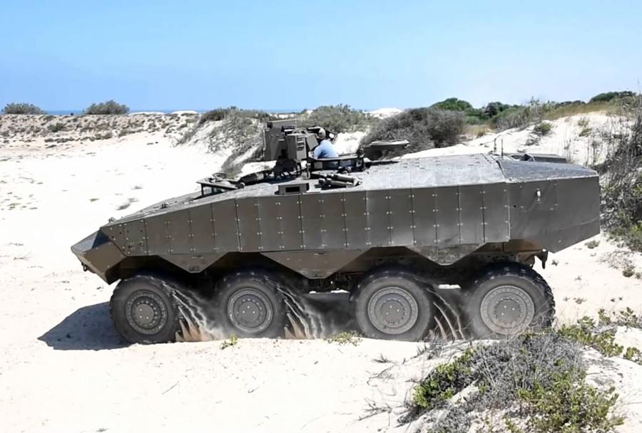 Izraelsko kolesno oklepno vozilo eitan 8x8