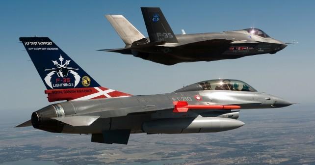 Danski lovec F-16 in F-35