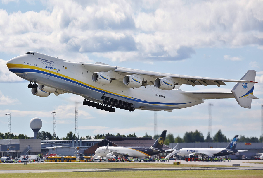 Ukrajinsko letalo Antonov An-225 mriya