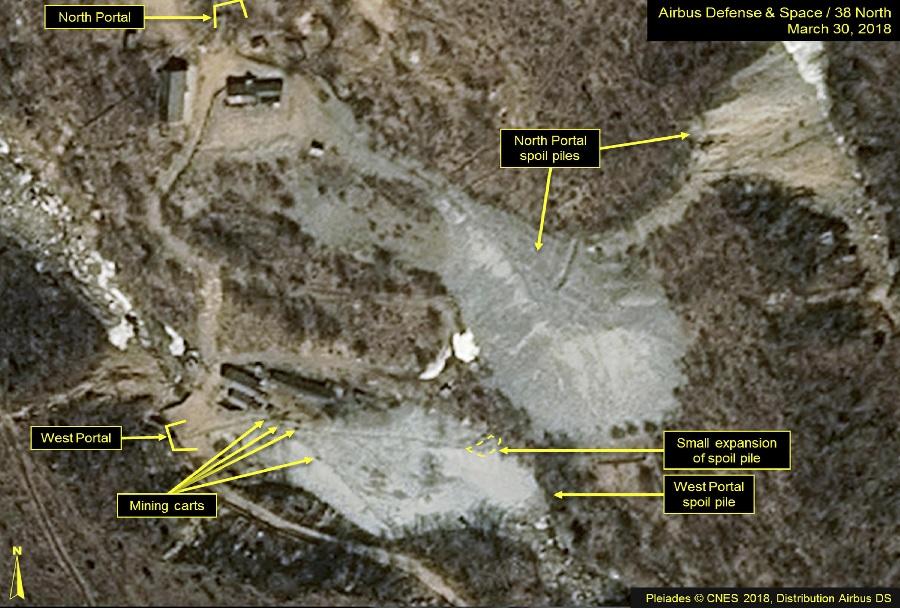 Severna Koreja - poligon Punggye-ri