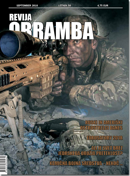 Revija Obramba, SEPTEMBER 2018 - naslovka