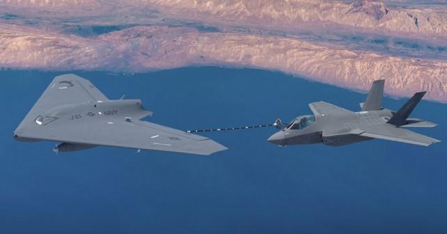 Koncept brezpilotnega letala - tankerja MQ-25 stingray
