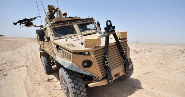 Britansko oklepno vozilo foxhound 4x4-