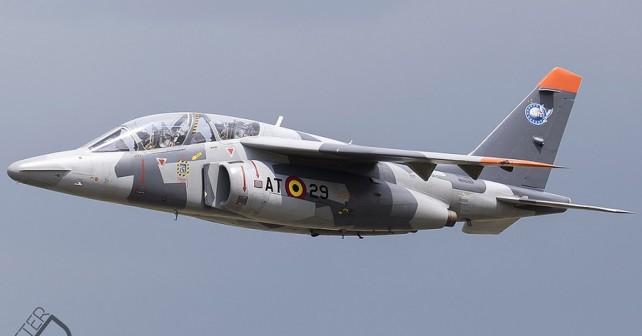 Belgijsko trenažno letalo alpha jet