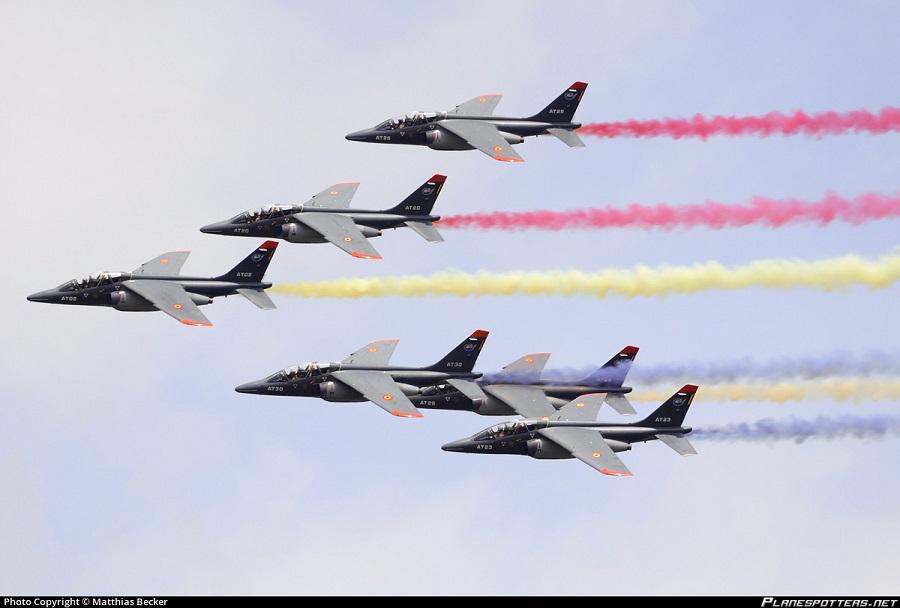 Formacija belgijskih letal alpha jet