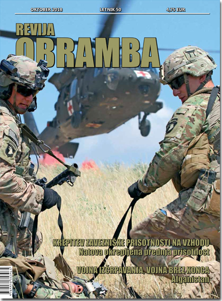 Revija OBRAMBA, oktober 2018 - naslovnica
