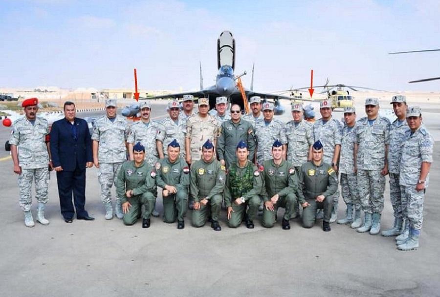 Predsednik el-Sisi pozira ob novem lovcu MiG-29M/M2