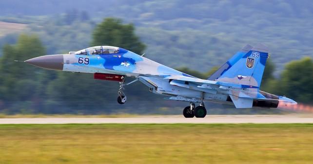 Ukrajinski dvosedi lovec Su-27UB