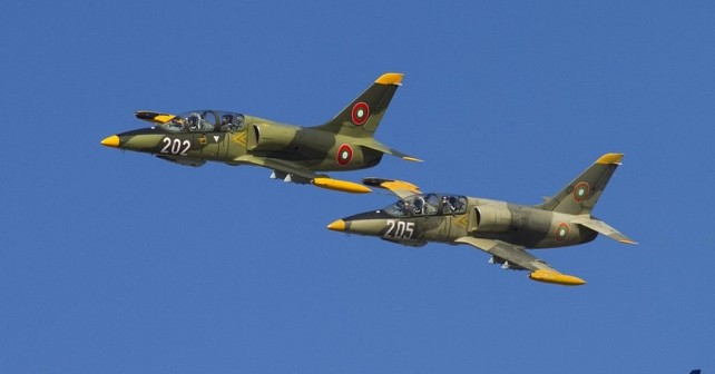 Bolgarski trenažni letali L-39 albatros