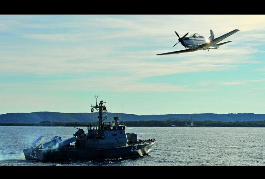 Raketna topnjača in Pilatus PC-9