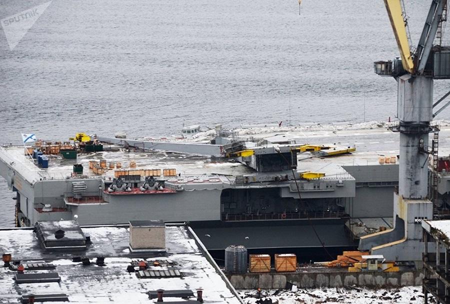 Nesreča ob remontu letalonosilke Admiral Kuznecov