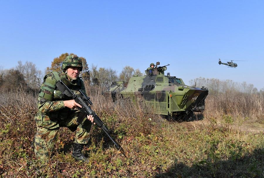 Srbske priprave na vojaško vajo Vek pobednika 1918-2018