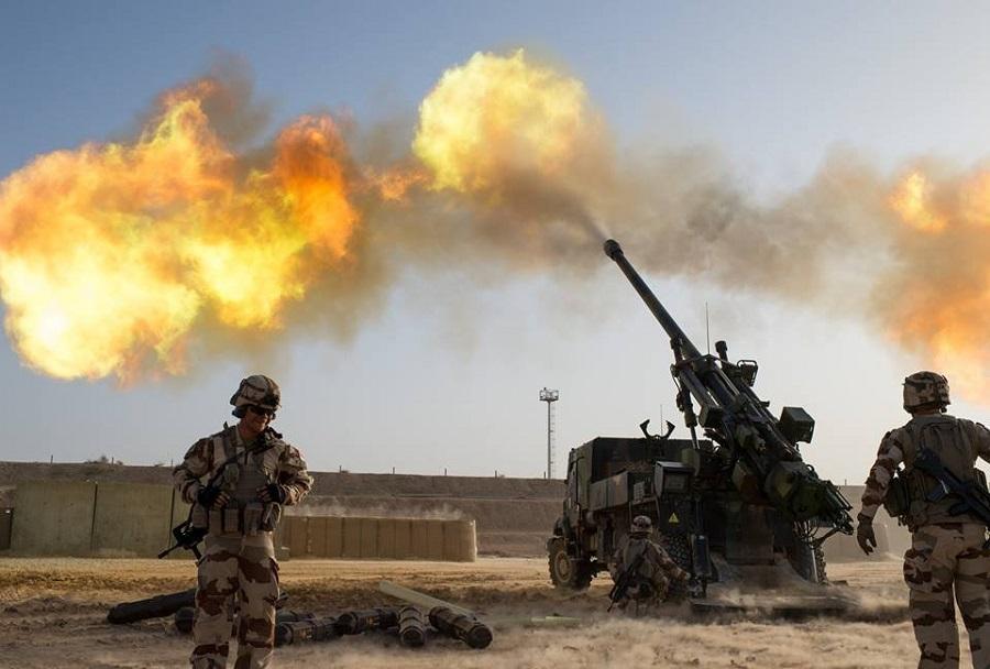 Francoske havbice caesar 155mm v Iraku