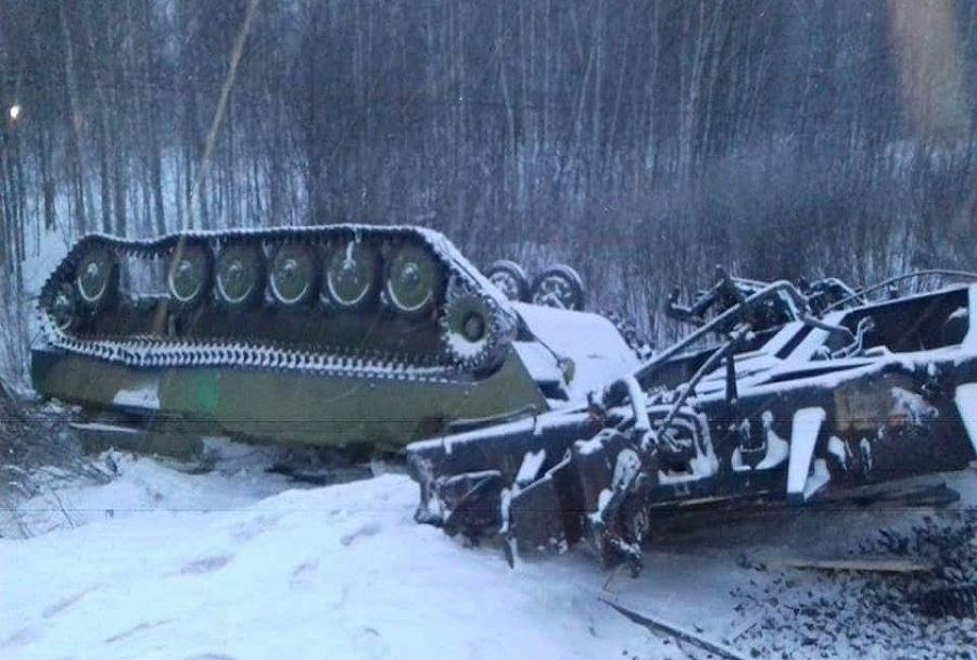 Nesreča ruskega vojaškega vlaka