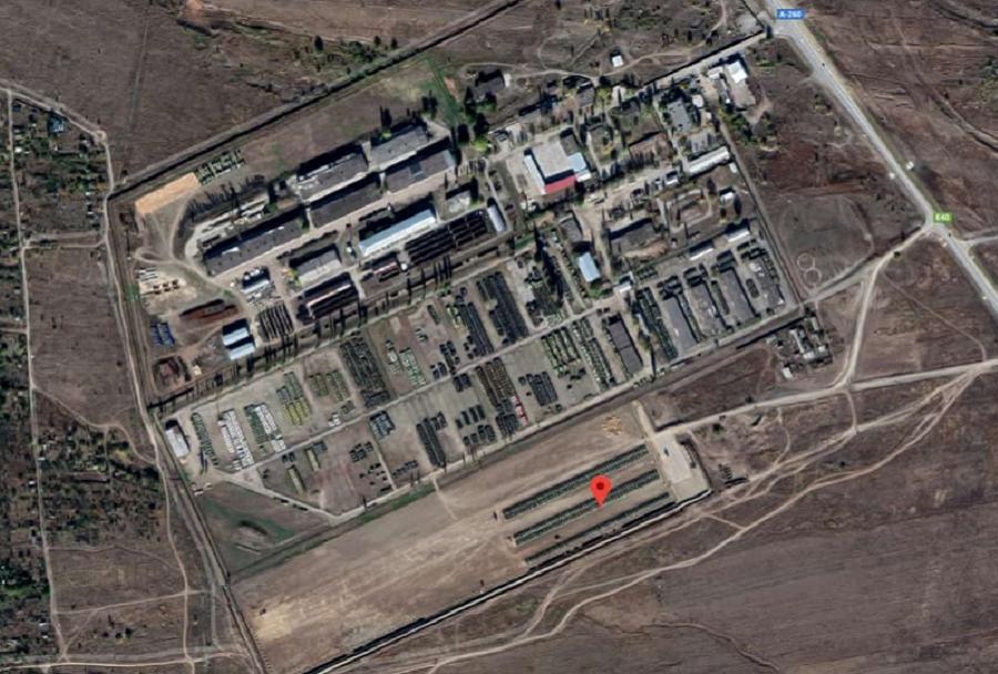 Ruska vojaška baza Kamensk-Shakhtinsky posneta iz satelita