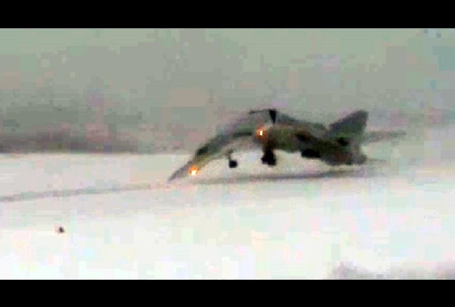 Posnetek nesreče ruskega bombnika Tu-22M3