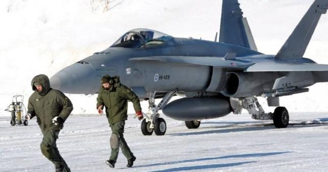 Finski lovec F/A-18C hornet