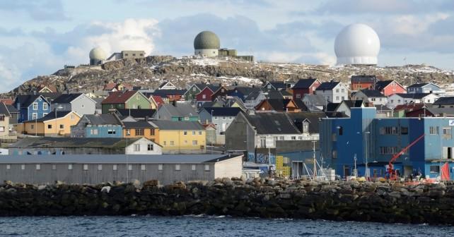 Norveški radar nad mestom Vardø
