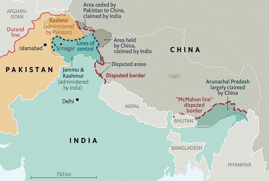 Pokrajina Kašmir - delitev