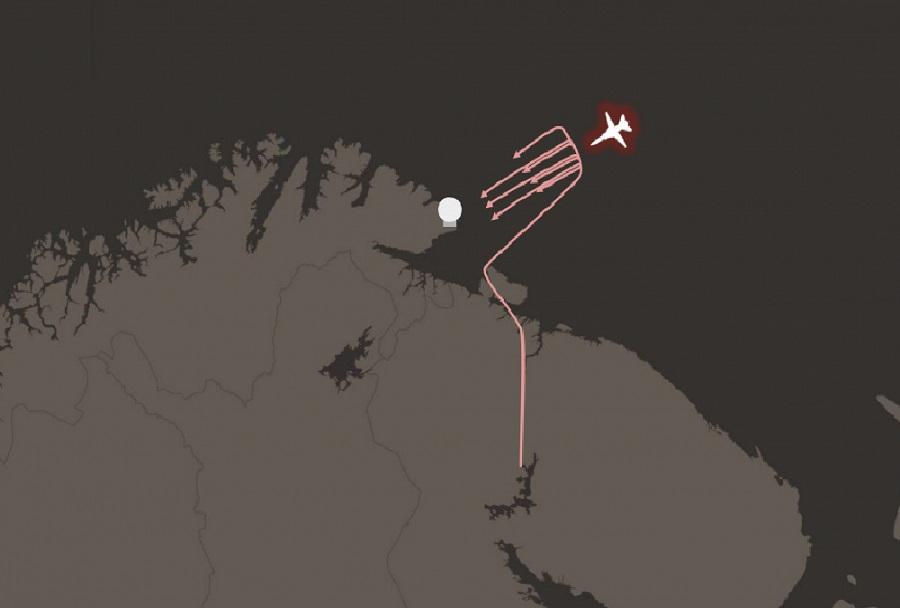 Simulacija ruskega letalskega napada na radar v norveškem mestecu Vardo