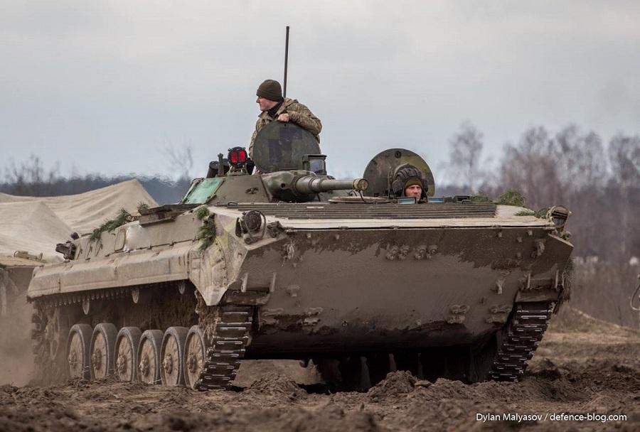 Ukrajinski oklepnik BMP-1AK