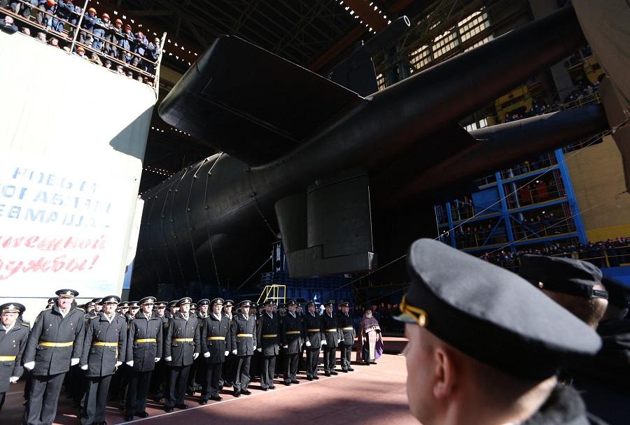Podmornica Belgorod projekt 09852 - splavitev