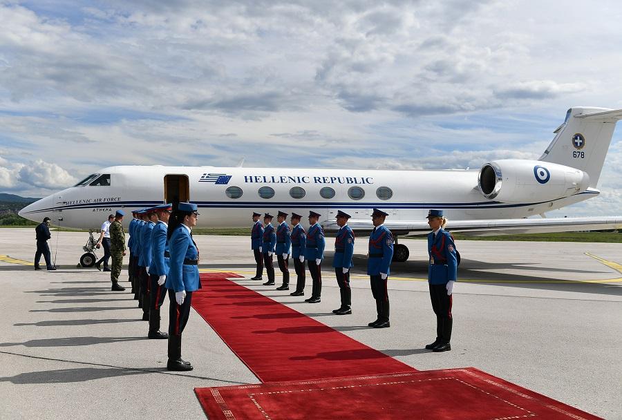 Grško letalo Gulfstream G-V