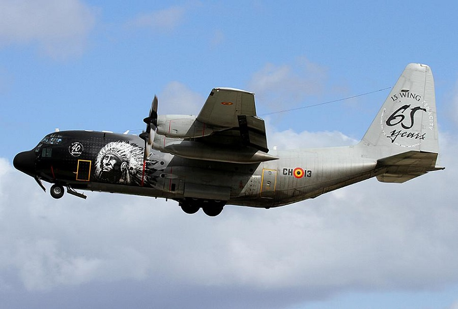 Belgijsko vojaško transportno letalo C-130 hercules