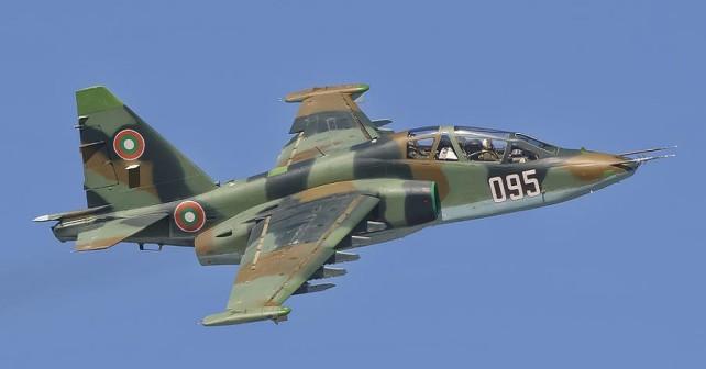 Bolgarsko jurišno letalo Su-25