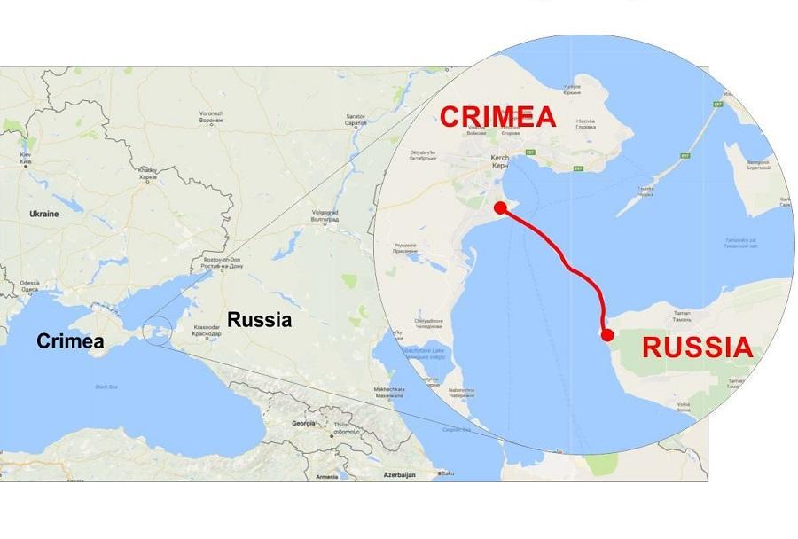 Krimski most - zemljevid