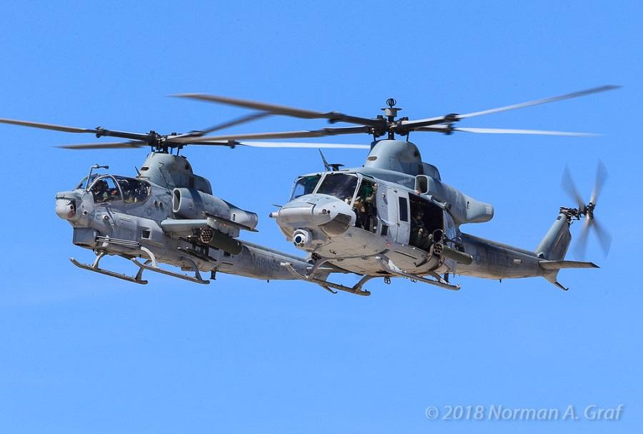 helikopterja AH-1Z viper in UH-1Y venom