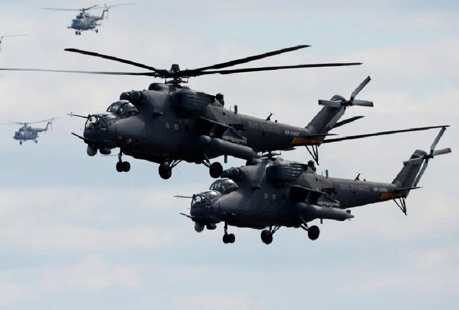 helikopterja Mi-35