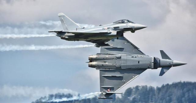 avstrijska lovca Eurofighter typhoon