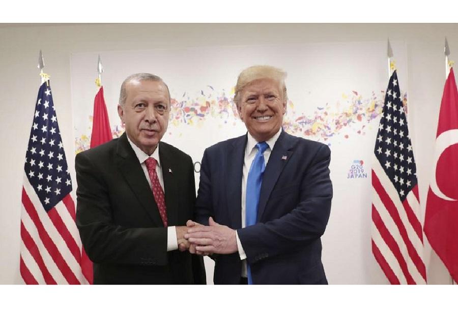 Turški predsednik Erdogan in ameriški Trump