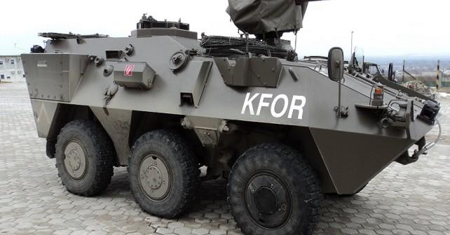 Avstrijski pandur A3, kakršnega je uporabljala avstrijska vojska med misijo KFOR na Kosovu