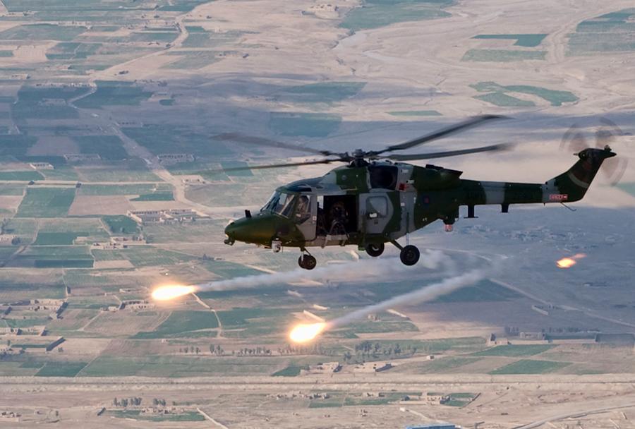 Britanski helikopter Westland lynx v Afganistanu