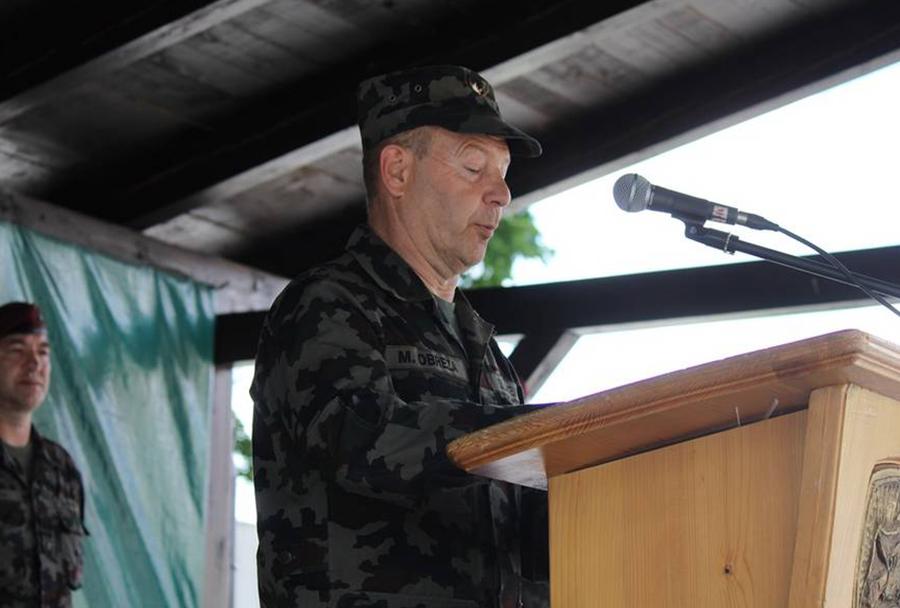 Brigadir Milan Obrez ob vrnitvi 20. kontingenta SV  iz operacije ISAF v Afganistanu
